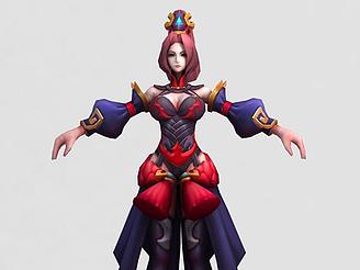 3d<font class='myIsRed'>王者榮耀</font>游戲女角色模型