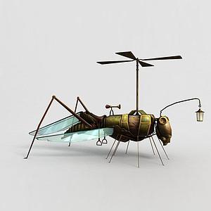 神魔坐騎飛騎機械螞蚱模型