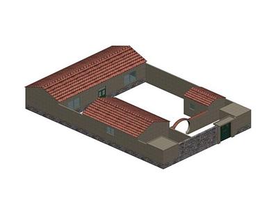 3d小院模型