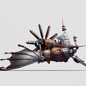 游戲道具蒸汽飛艇模型