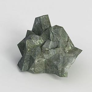 游戲道具石頭模型
