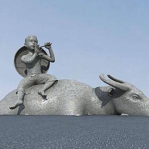 3d<font class='myIsRed'>雕塑</font>牛模型