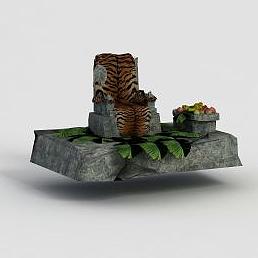 游戲場景寶座模型