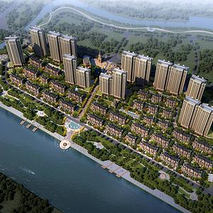 3d欧式住宅小区模型