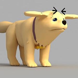 動漫小狗形象模型