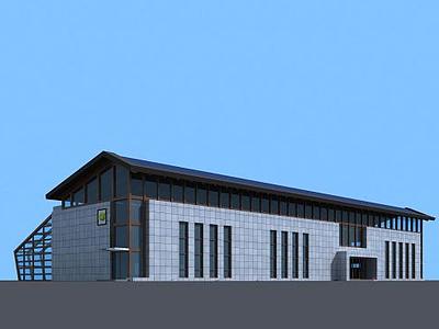 農業廠房玻璃溫室大棚3d模型