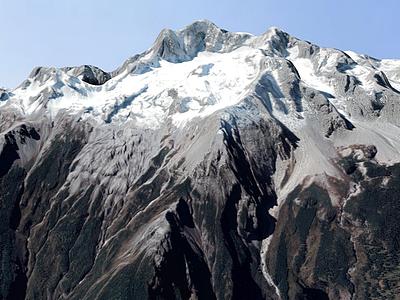 雪山3d模型