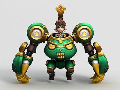 王者榮耀男游戲人物角色模型