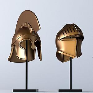 欧式骑兵头盔战盔模型