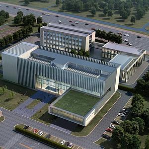 3d现代办公楼模型