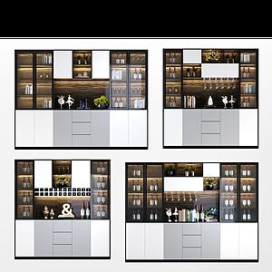 3d现代简约酒柜模型