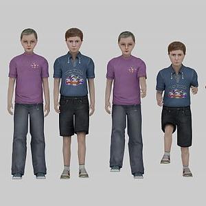 現代兒童人物模型
