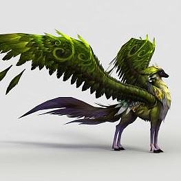 飛騎綠焰狐模型