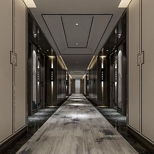 走廊电梯间3d模型