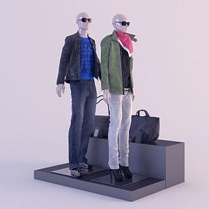 3d商店物品陈设模型