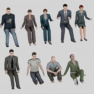 各類人物組合模型