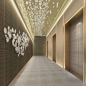 走廊電梯間模型