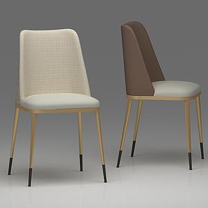 餐椅客房椅模型