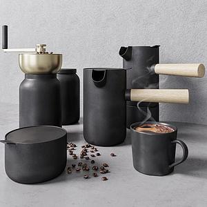 現代手動咖啡機模型