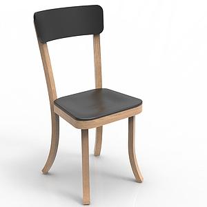 實木餐椅模型