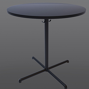 美式咖啡小圓桌模型