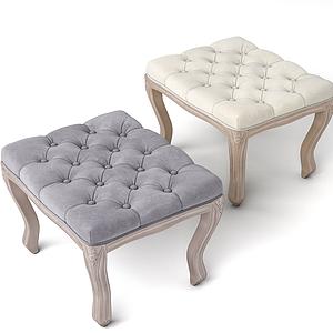 美式休閑面包短凳模型