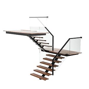 現代扶手樓梯模型