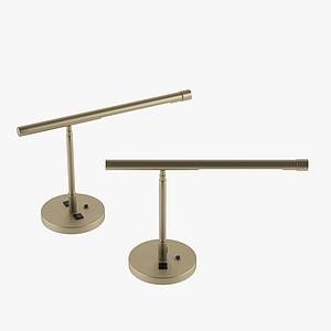 現代竹式臺燈模型