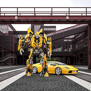 變形金剛大黃蜂模型