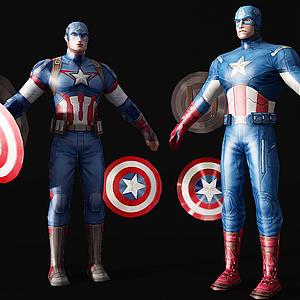 人物美國隊長模型