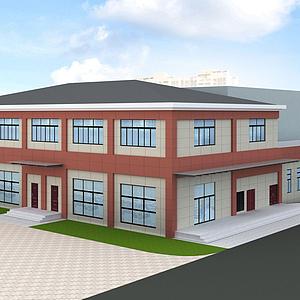3d學校模型