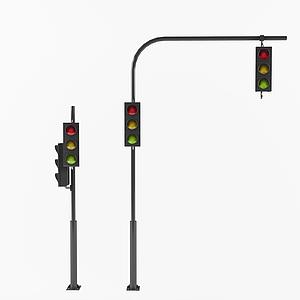 現代交通燈紅綠燈模型
