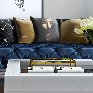 現代沙發模型
