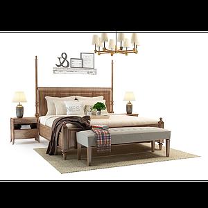 臥室床模型