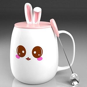 小兔杯子模型