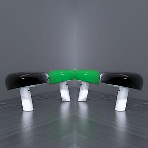 現代坐蓐式臺燈模型