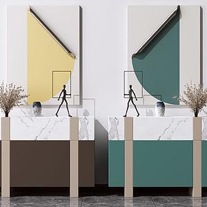 餐邊柜模型