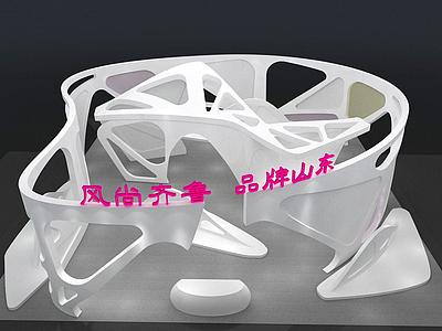 3d展示廳模型