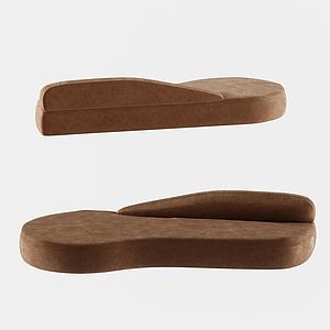 現代設計沙發舒適模型
