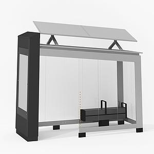 公交車候車亭模型