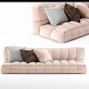 現代榻榻米式懶人沙發抱枕模型
