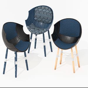 現代蛋殼休閑椅模型