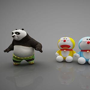 3d現代風格玩具模型