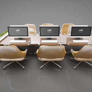 3d現代風格會議桌模型
