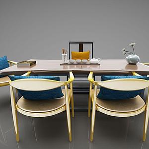3d現代風格茶案模型