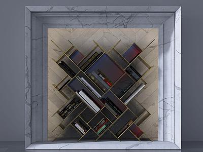 美式壁爐柜模型3d模型