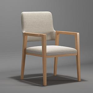 3d現代<font class='myIsRed'>書</font>椅休閑椅單椅模型模型