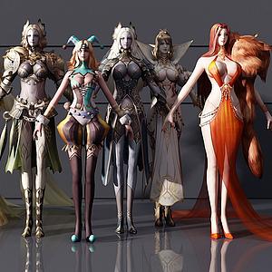游戏人物3d模型