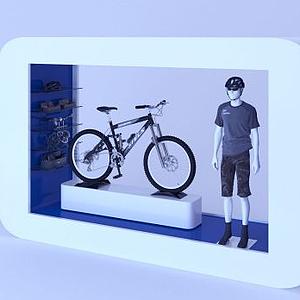 自行車商品展臺模型