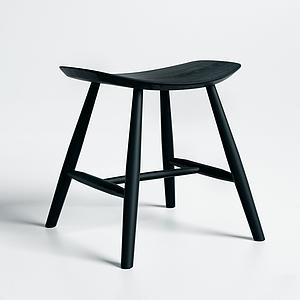 現代翹邊木凳模型